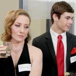 Left: Melissa Lowe as Damascus. Right: Ryan Walden as Morpho.